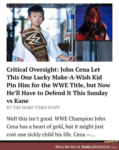Cena with another make-a-wish