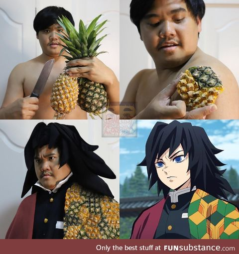 Lonelyman and his pineapple