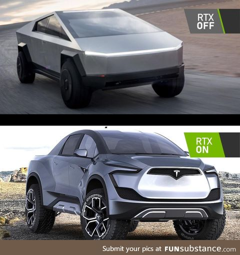 Hopefully one of the Tesla Truck editions gets Ray Tracing!