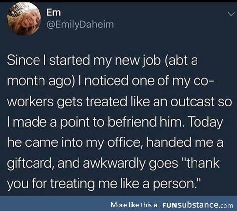 Thanks Emily for being a good person