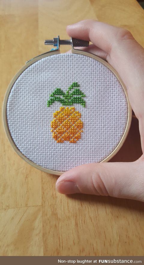 Cross Stitch Pineapple