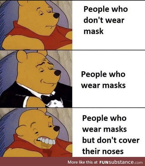 Idiots in masks