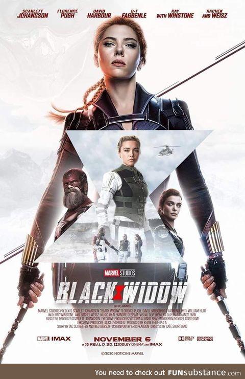 Black Widow fan made poster