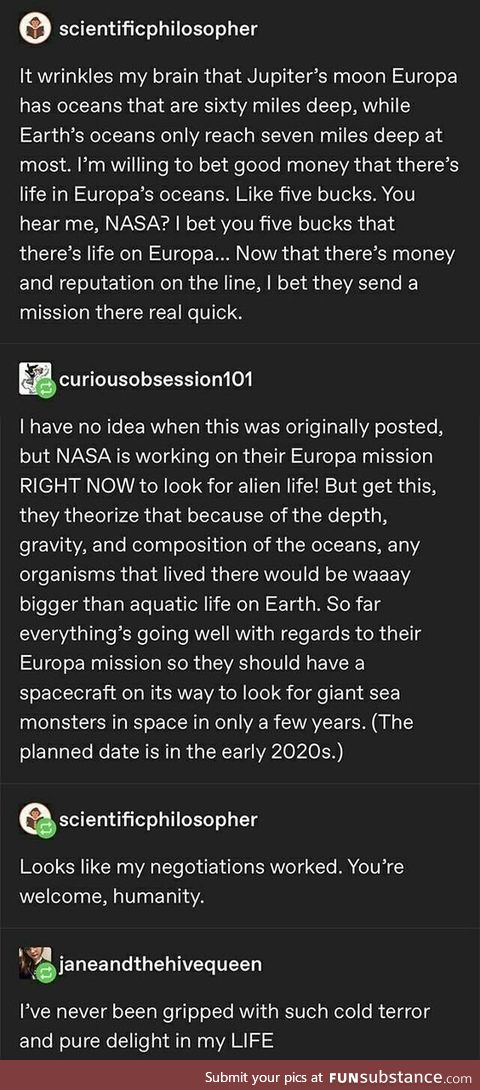 Europa, for science.!