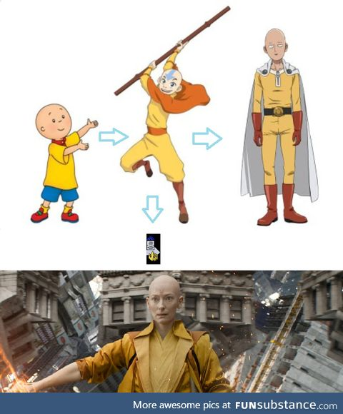 Caillou evolution pathway