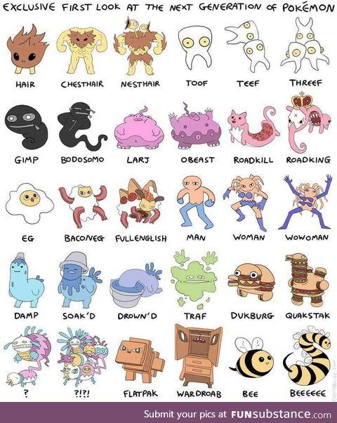 The next generation of Pokémons