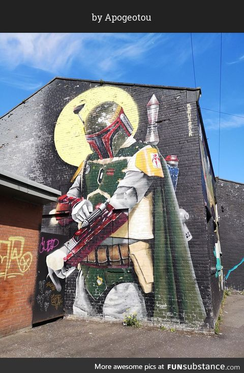 This is the way (street art in Glasgow, Scotland)