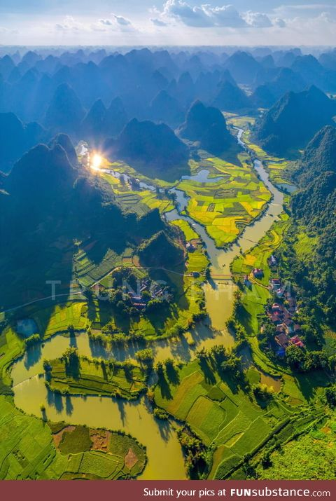 This is Vietnam. Exact location is Phong Nam, Cao Bang