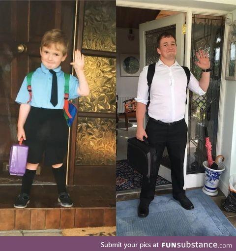 First day to school and first day to school as a teacher
