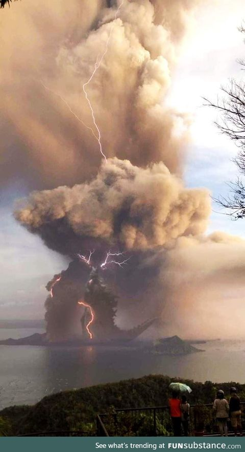 Seen somewhere near the Philippine eruption