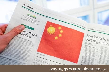 A Danish newspaper published a satirical drawing, and now the Chinese government is