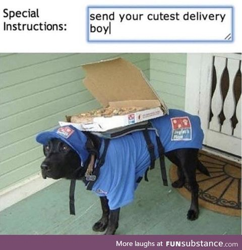 I am the delivery boy