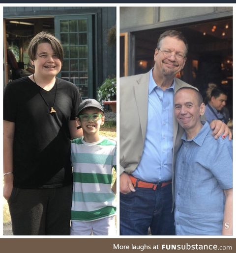 Gilbert Gottfried's son and Penn Jillette's son are friends. Guess which one is which