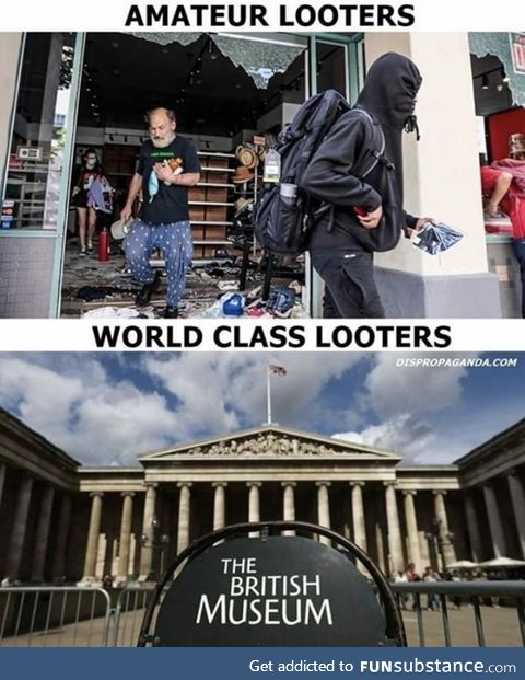 Looters need some teaching !