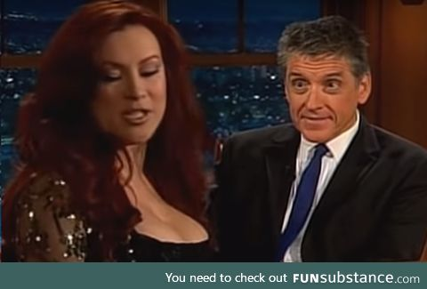 Craig Ferguson harnessing all Earthly Powers to not look