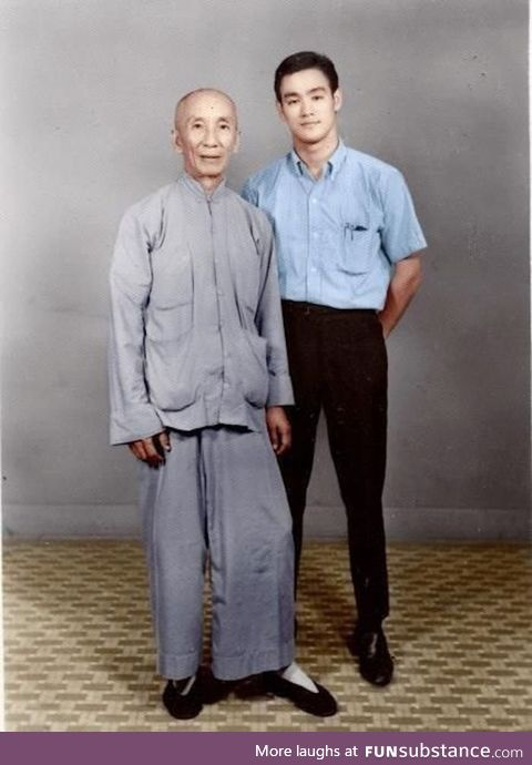 Bruce Lee with his master