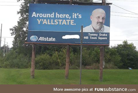 Saw this on a billboard in Georgia