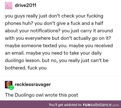 Check your phone