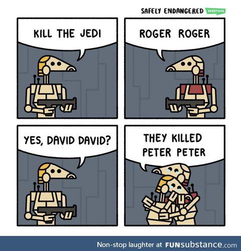 Sad droids