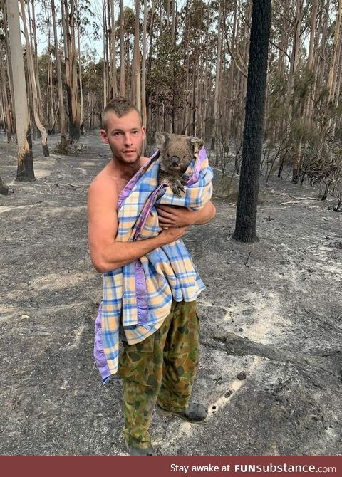 Since the fire has passed through Mallacoota this amazing, selfless young guy has been