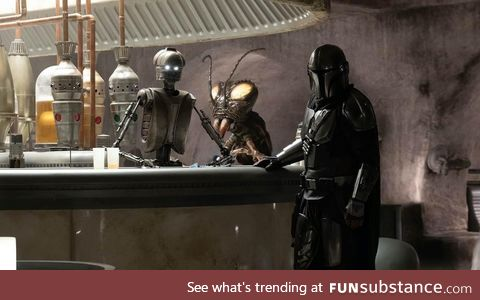 Who spotted this Mark Hamill cameo in Chapter 5 of The Mandalorian?