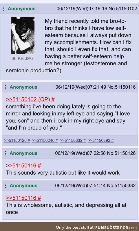 Wholesome, autistic and depressing