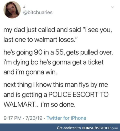 """the police escort"""