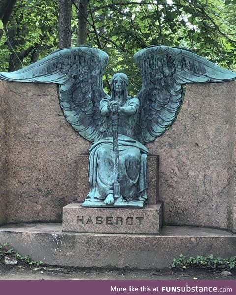 The way this statue has aged is both beautiful and creepy. Found in Lakeview cemetery