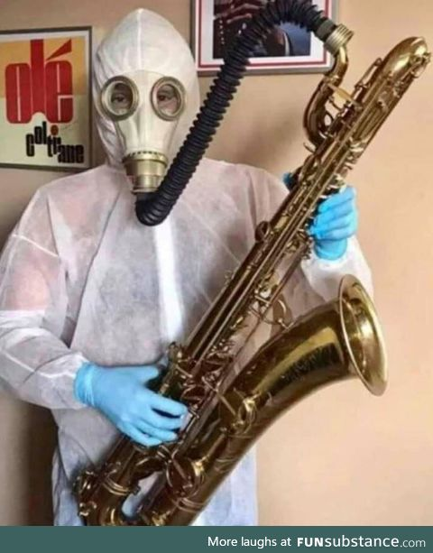 Make sure you practice safe sax while in quarantine!