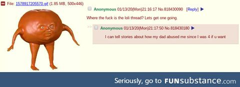 Loli thread goes wrong (or right, depends)
