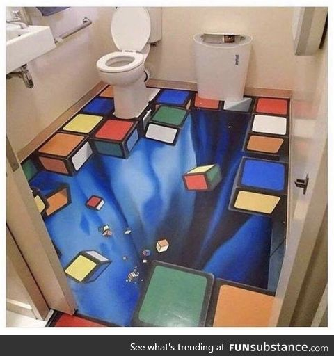 Imagine being drunk as hell and walking into this bathroom