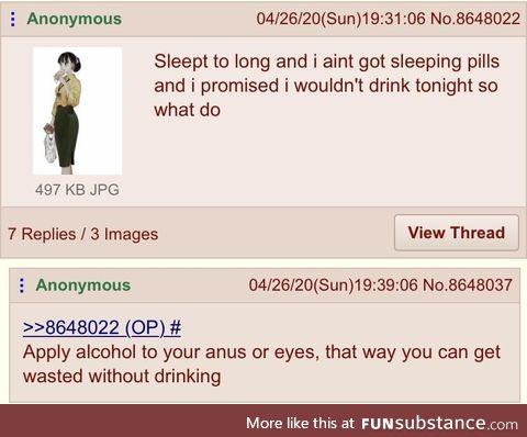 Anon needs drinking solution