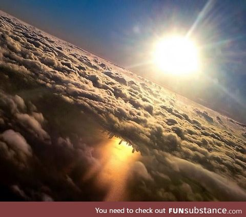 Once in a lifetime shot of Chicago skyline reflected on Lake Michigan