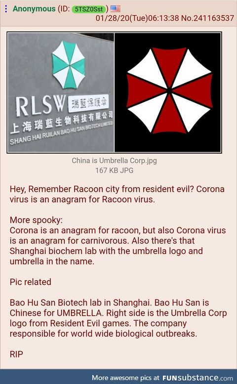 Anon realizes Resident Evil is Real Life