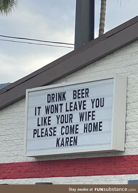 Went to a local bar and saw their sign -