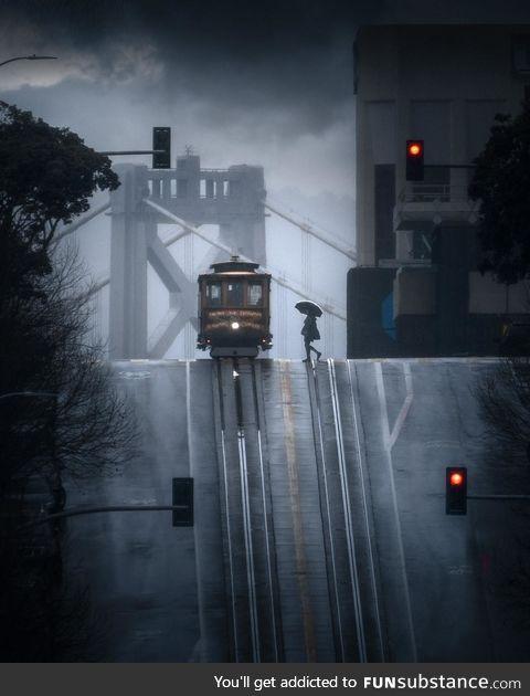 San Francisco in the rain! Photo credit ig @mindz.Eye