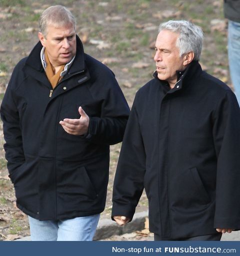 Posting again because f*ck the Royals. Prince Andrew and his long time pal Jeffrey