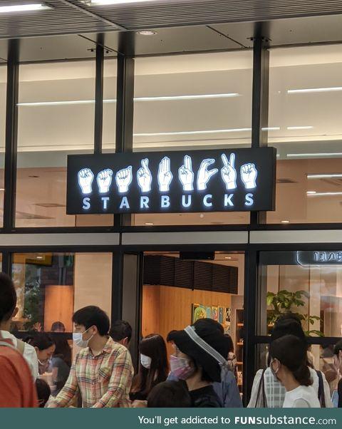 Japan has a sign language Starbucks, apparently