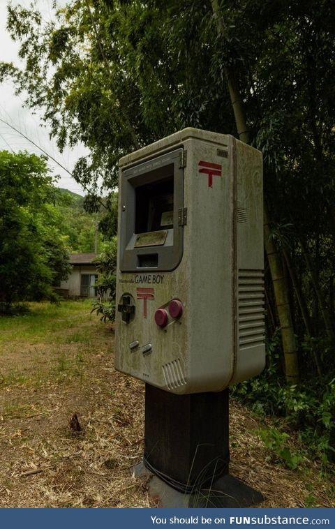 Game boy mailbox from shikoku, japan