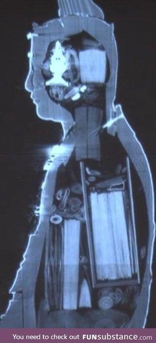 The X-ray of an ancient Buddhanese statue