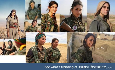 The faces of brave Kurdish women fighters who have fought ISIS