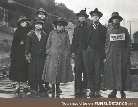 Wear a mask or go to jail, circa Cali 1918
