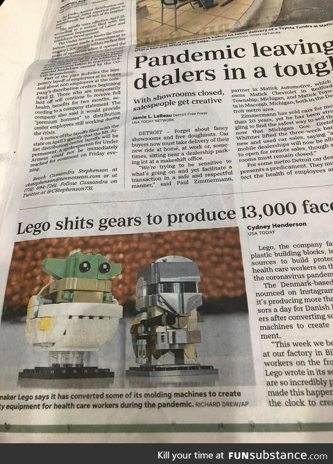 Fatal error in a local paper today