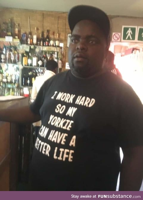 Unexpected wholesome shirt in a dive bar