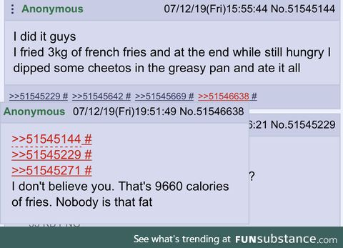 Anon is hungry