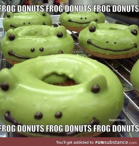 Frog Donuts Frog Donuts Frog Donuts Bag Of Bugs