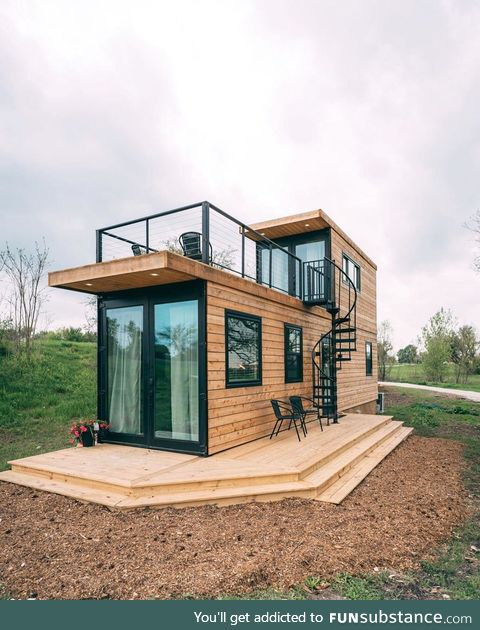 Absolutely gorgeous container house