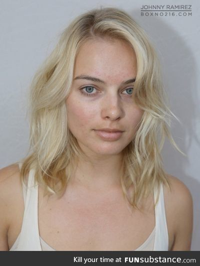 Margot Robbie no makeup