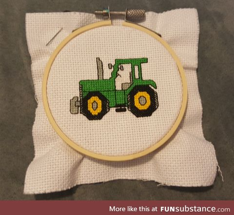 Cross Stitch Tractor