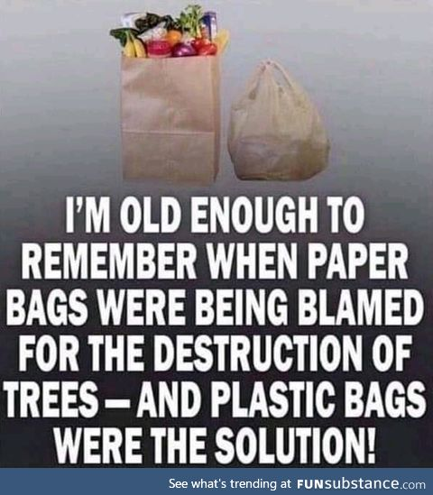 Save the trees, go plastic